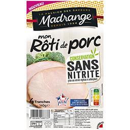 Madrange Madrange Mon Rôti de Porc sans nitrite la barquette de 4 tranches - 140 g