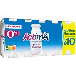 Actimel Danone Actimel - Lait fermenté à boire Original 0% les 10 bouteilles de 100 g