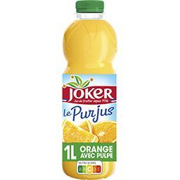 Joker Joker Le Pur Jus - Jus d'orange avec pulpe la bouteille de 1 l