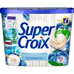 Super Croix Super Croix Doses de lessive Bien-être scandinave pivoine sauvage avoine les 26 doses de 13 g