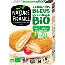 Nature de France Nature de France Cordons bleus de volaille BIO les 2 cordons bleus de 100 g