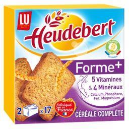 LU Heudebert Biscottes Forme+ céréale complète la boite de 280 g