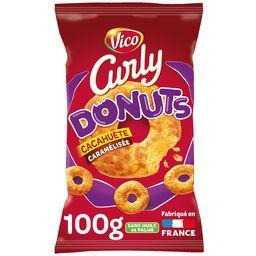Curly Vico Curly - Donuts cacahuète caramélisée sucrée-salée le sachet de 100 g