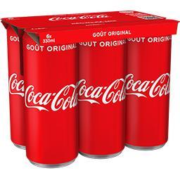 Coca Cola Coca-Cola Soda au cola goût original les 6 cannettes de 330 ml