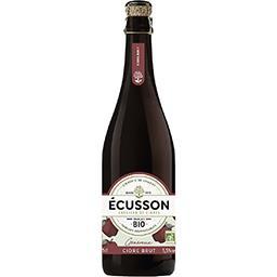 Ecusson Ecusson Cidre brut Bio généreux la bouteille de 75cl