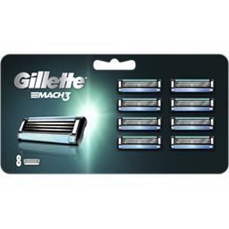 Gillette Gillette Recharges de lames de rasoir pour homme Mach3 Le paquet de 8 lames