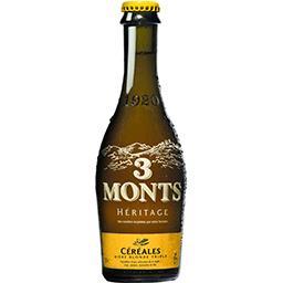 3 Monts 3 Monts Héritage - Bière blonde triple Céréales la bouteille de 33 cl