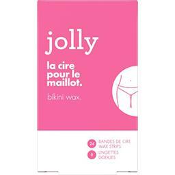 Jolly Jolly Bandes de cire maillot, pour femme Le paquet de 24 bandes