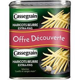 Cassegrain Cassegrain Haricots beurre extra-fins les 2 boites de 220 g net égoutté - Offre Découverte