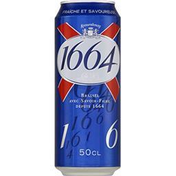 1664 1664 Bière blonde le pack de 1x50 cl