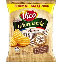 Vico Vico Chips La Gourmande L'Original au bon goût pomme de terre le paquet de 300 g - Format Maxi