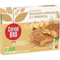 Céréal Bio Céréal Bio Galettes sarrasin & boulghour à l'emmental bio les 2 galettes de 100 g