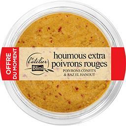 Blini L'Atelier Blini Houmous poivrons le pot de 180 g - Offre du Moment