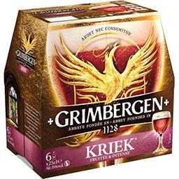 Grimbergen Grimbergen Kriek - Bière d'Abbaye aromatisée cerise le pack de 6x25cl