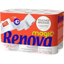 Renova Renova Rouleaux de papier hygiéniques blanc les 12 rouleaux