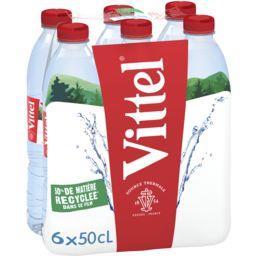 Vittel Vittel Eau minérale naturelle les 6 bouteilles de 50 cl