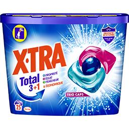 X•TRA X-Tra Total - Capsule de lessive 3+1 Trio caps les 25 doses de 13 g