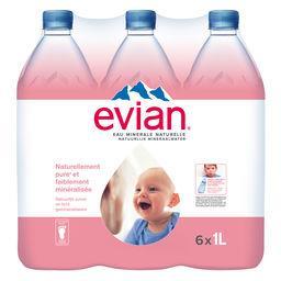 Evian Evian Eau minérale naturelle les 6 bouteilles de 1 l