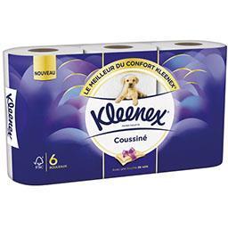 Kleenex Kleenex Papier toilette Coussiné le paquet de 6 rouleaux