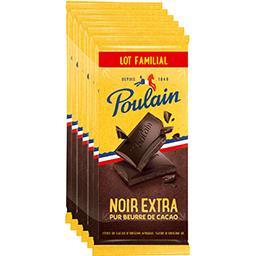 Poulain Poulain Chocolat noir extra-fin Les 6 tablettes de 100g