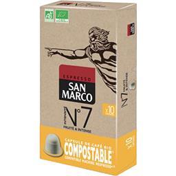 San Marco San Marco Café Capsules Compostables N°7 Bio la boîte de 10 capsules