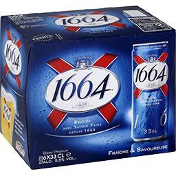 1664 1664 Bière blonde le pack de 6x33cl
