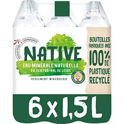 Val de Loire Native Eau minérale naturelle du Centre-Val de Loire les 6 bouteilles de 1,5 l
