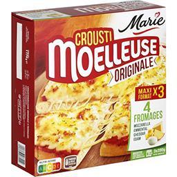 Marie Marie Crousti Moelleuses - Pizza Originale 3 fromages les 3 pizzas de 390 g