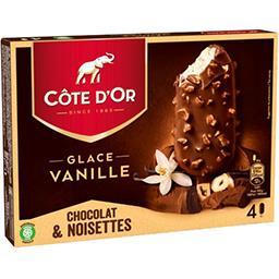 Côte d'Or Côte d'Or Bâtonnets de glace vanille chocolat & noisettes la boite de 4 - 360 ml