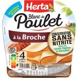 Herta Herta Blanc de poulet à la broche la barquette de 4 tranches - 140 g
