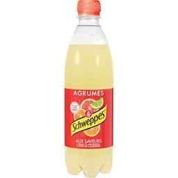 Schweppes Schweppes Soda Agrumes aux saveurs de 4 agrumes la bouteille de 50 cl