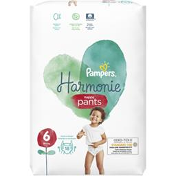 Pampers Pampers Couches-culottes harmonie pants taille 6, 15kg+ Le paquet de 18 couches