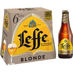 Leffe Leffe Bière blonde les 6 bouteilles de 25cl - 150cl