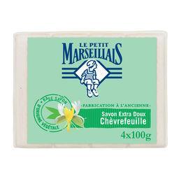 Le Petit Marseillais Le Petit Marseillais Savon extra doux chèvrefeuille les 4 savons de 100 g