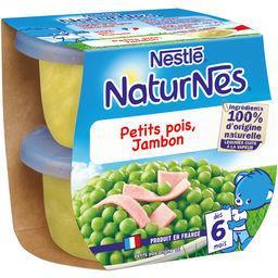 Nestlé Nestlé NaturNes  - Petits pois jambon, dès 6 mois les 2 pots de 200 g