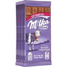 Milka Milka Chocolat au lait les 6 tablettes de 100 g - Lot Familial