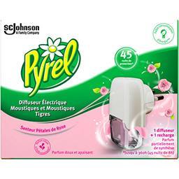 Diffuseur électrique moustiques senteur pétales de rose