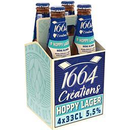 Kronenbourg 1664 Créations Houblon Hoppy Lager - Bière Blonde le pack de 4x33cl