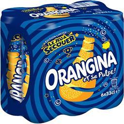 Orangina Orangina Soda aux fruits et sa pulpe les 6 canettes de 33 cl