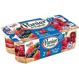 Yoplait Panier de Yoplait Yaourt 0% MG Les Fruits Rouges les 8 pots de 130 g