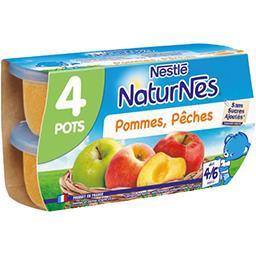 Nestlé Nestlé NaturNes - Purée de fruits pommes pêches dès 4-6 mois les 4 pots de 130 g