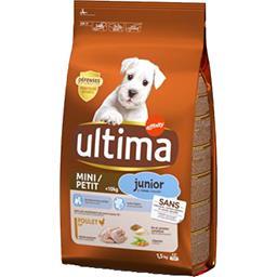 Ultima Ultima croquettes pour chien mini junior poulet le sac de 1,5 kg