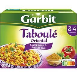 Garbit Garbit Taboulé Oriental curry doux & raisins secs la boite de 525 g