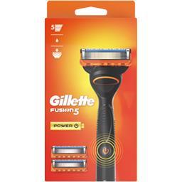 Couleur Provence Gillette Rasoir pour homme + 3lames Fusion5 Power La boite avec un rasoir et 3 lames