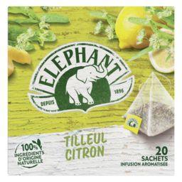 Elephant Eléphant Infusion tilleul citron la boite de 20 sachets - 28 g
