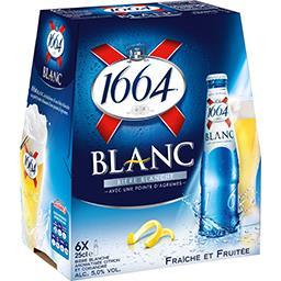 1664 1664 Blanc - Bière blanche pointe d'agrumes les 6 bouteilles de 25 cl