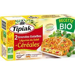 Tipiak Tipiak Grandes galettes légumes du soleil et céréales BIO la boite de 2 - 200 g