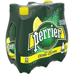 Perrier Perrier Eau gazeuse saveur citron sans sucres les 6 bouteilles de 50 cl