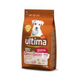 Ultima Ultima croquettes pour chien mini senior +8 ans poulet le sac de 1,5 kg
