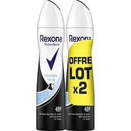 Rexona Rexona Motion Sense - Anti-transpirant 48 h Invisible Aqua les 2 bombes de 200ml